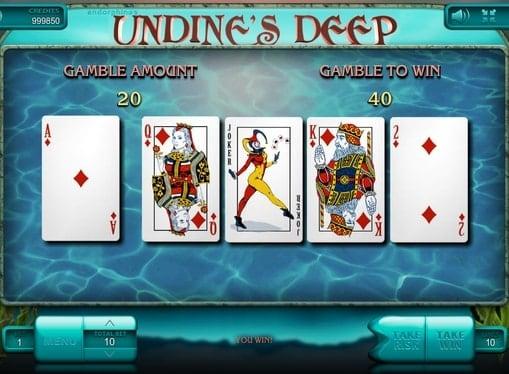 Риск игра в аппарате Undine's Deep