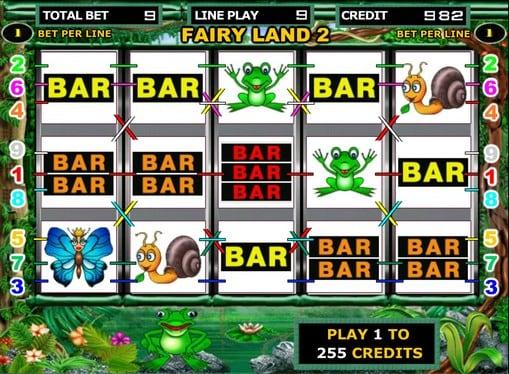 Игровые линии автомата Fairy Land