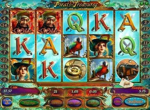 Барабаны слота Pirates Treasures HD с дикими символами