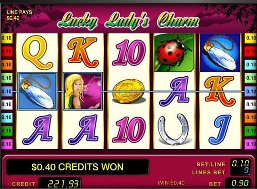 Выигрышная комбинация в слоте Lucky Lady's Charm