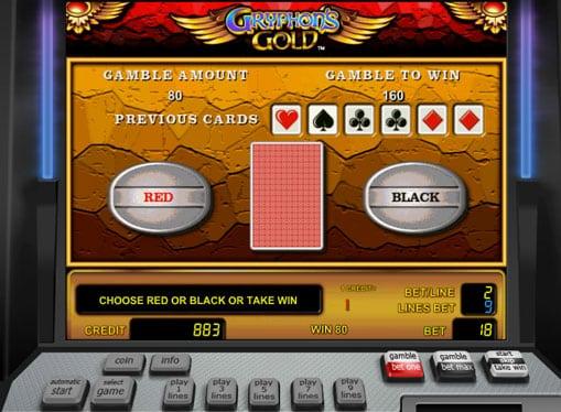 Риск игра на аппарате Gryphons Gold
