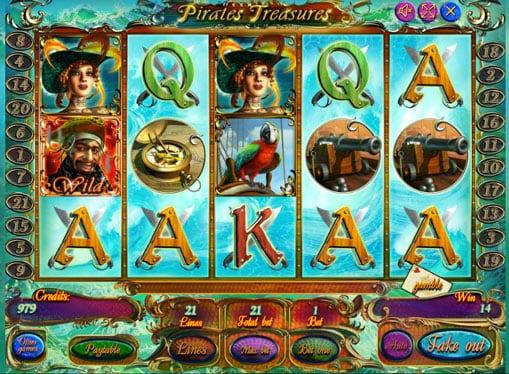 Выигрышная комбинация в слоте Pirate Treasures