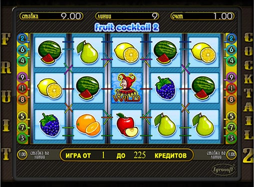 Символы игры и Wild на аппарате Fruit Cocktail 2