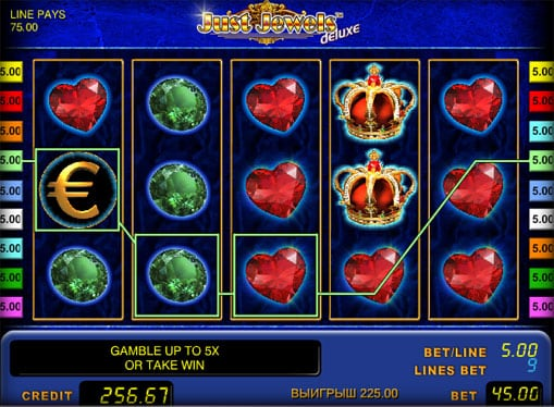 Выигрышная комбинация автомата Just Jewels Deluxe