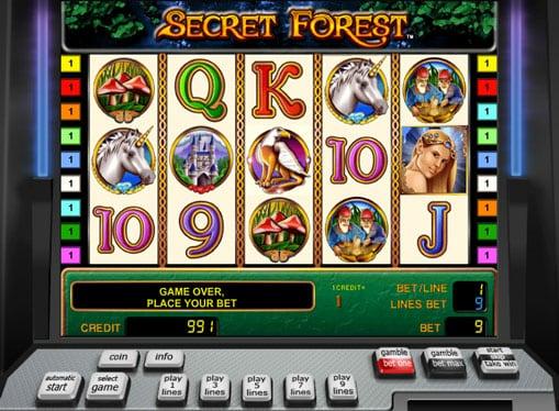 Символы игрового автомата Secret Forest
