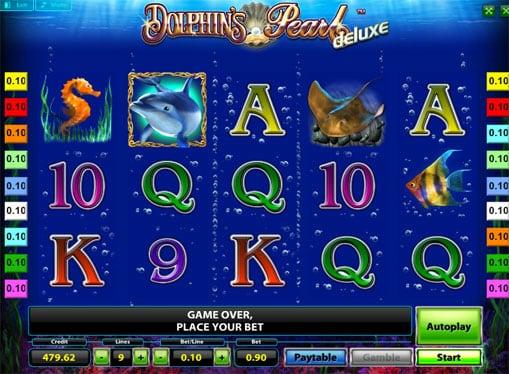 Символы игрового онлайн автомата Dolphins Pearl Deluxe