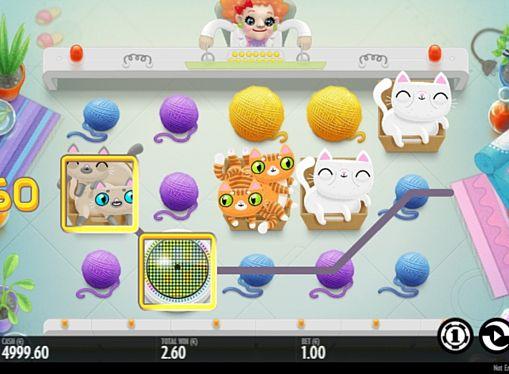 Призовая комбинация символов в игровом автомате Not Enough Kittens