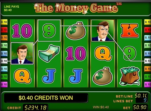 Выигрышная комбинация в слоте The Money Game