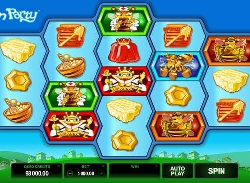 Выигрышная комбинация в игровом автомате Pollen Party