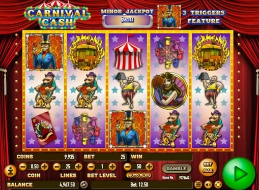 Символы онлайн автомата Carnival Cash
