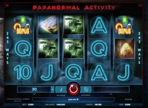 Символы игрового автомата Paranormal Activity
