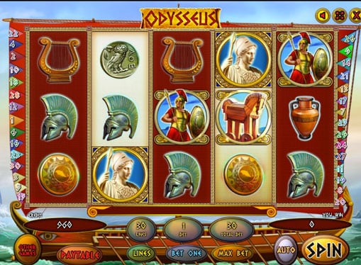 Символы игрового автомата Odysseus