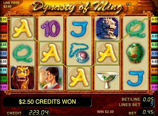 Выигрышная комбинация на игровом онлайн автомате Dynasty of Ming
