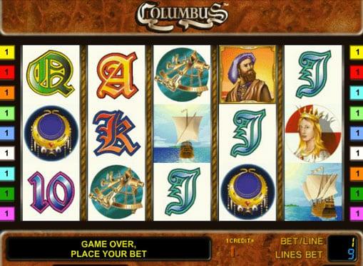 Символы слота Columbus