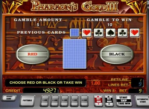 Риск игра на автомате Pharaoh's Gold III