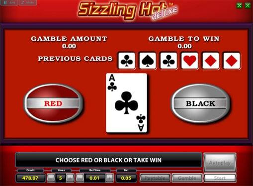 Риск игра в Sizzling Hot Deluxe
