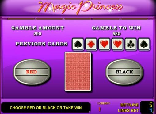 Риск игра на аппрарате Magic Princess