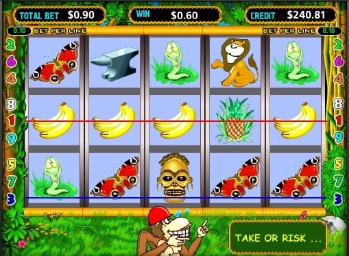Выигрышные линии на автомате Crazy Monkey